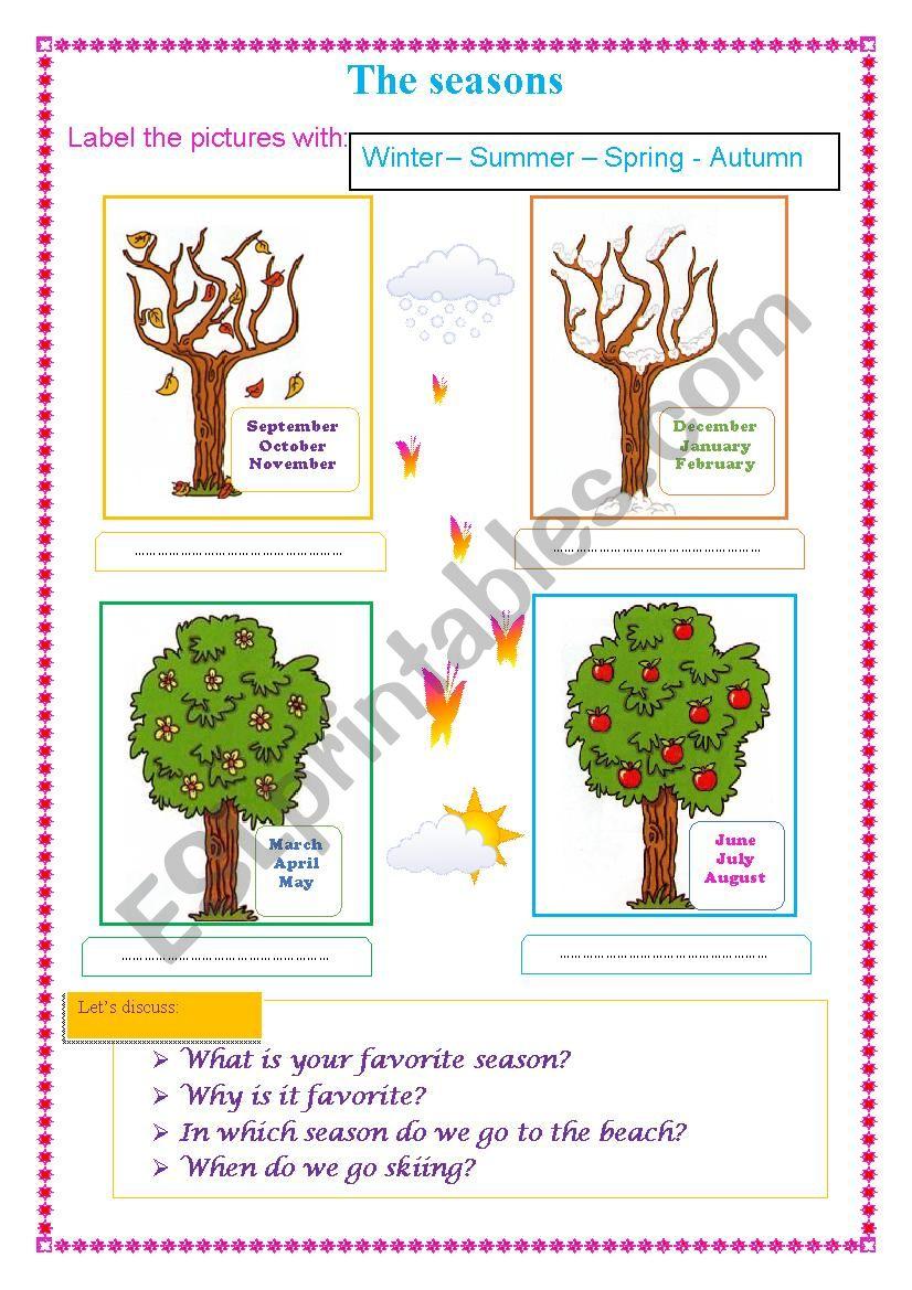 the seasons worksheet