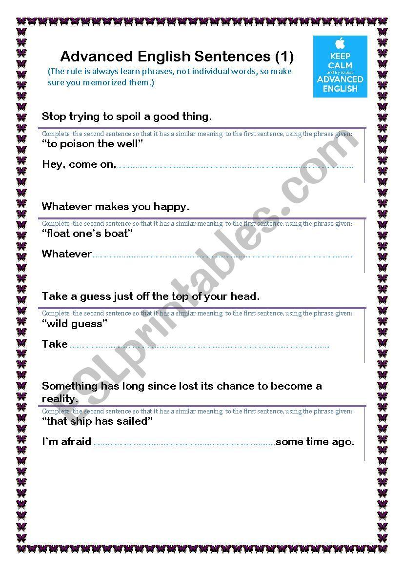 Cool English Phrases(1) worksheet
