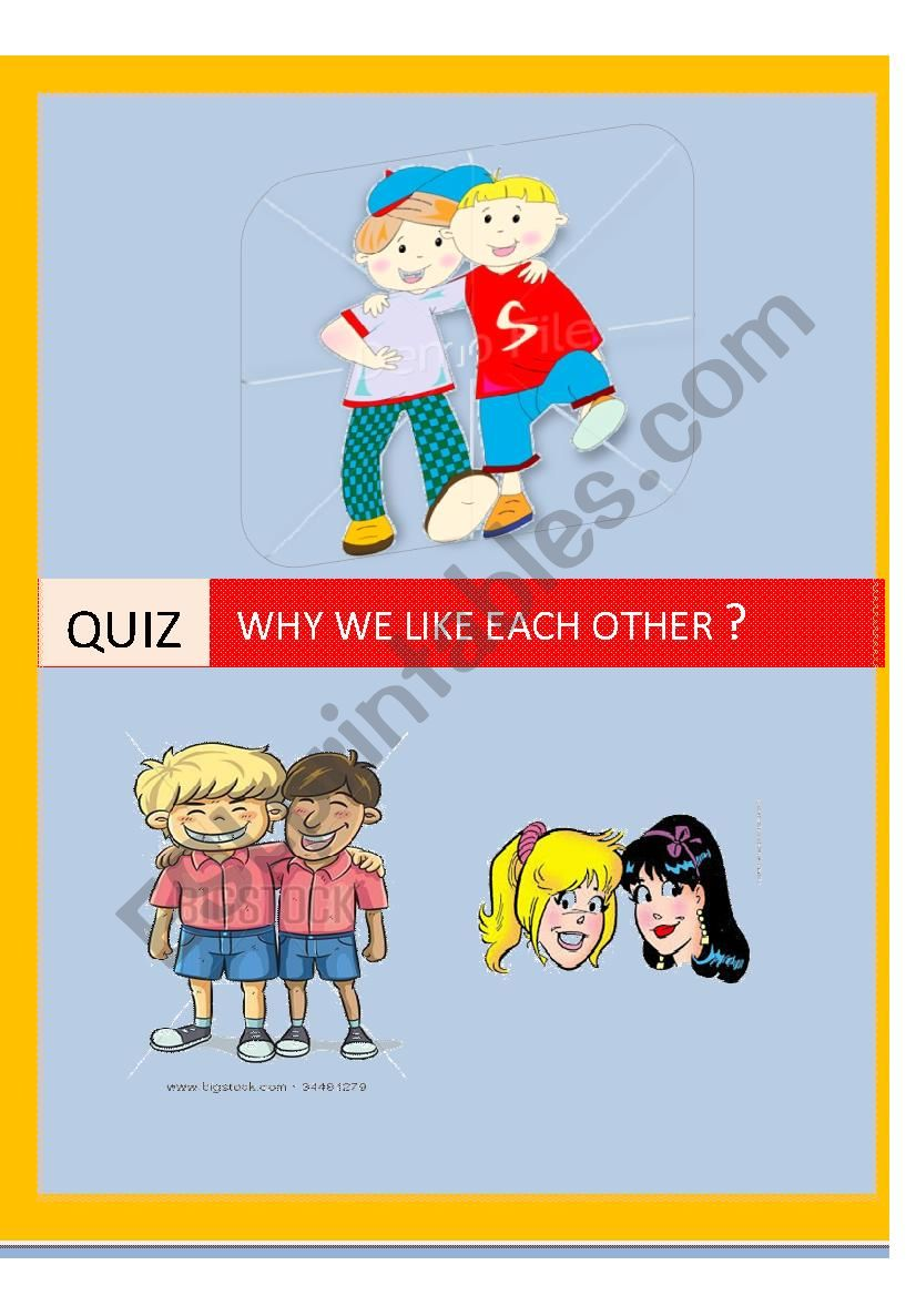 Friend worksheet