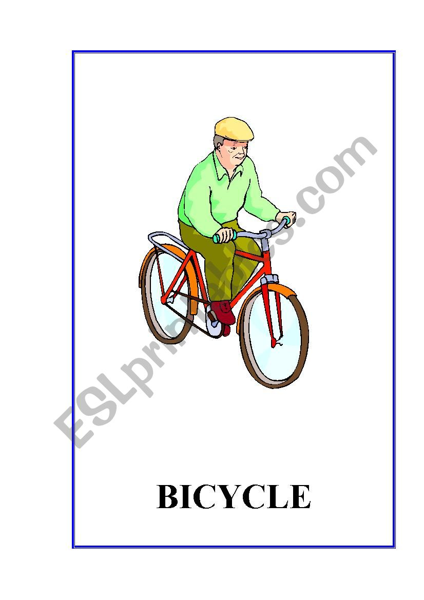 Means of Transport flashcards.10 fully editable flashcards
