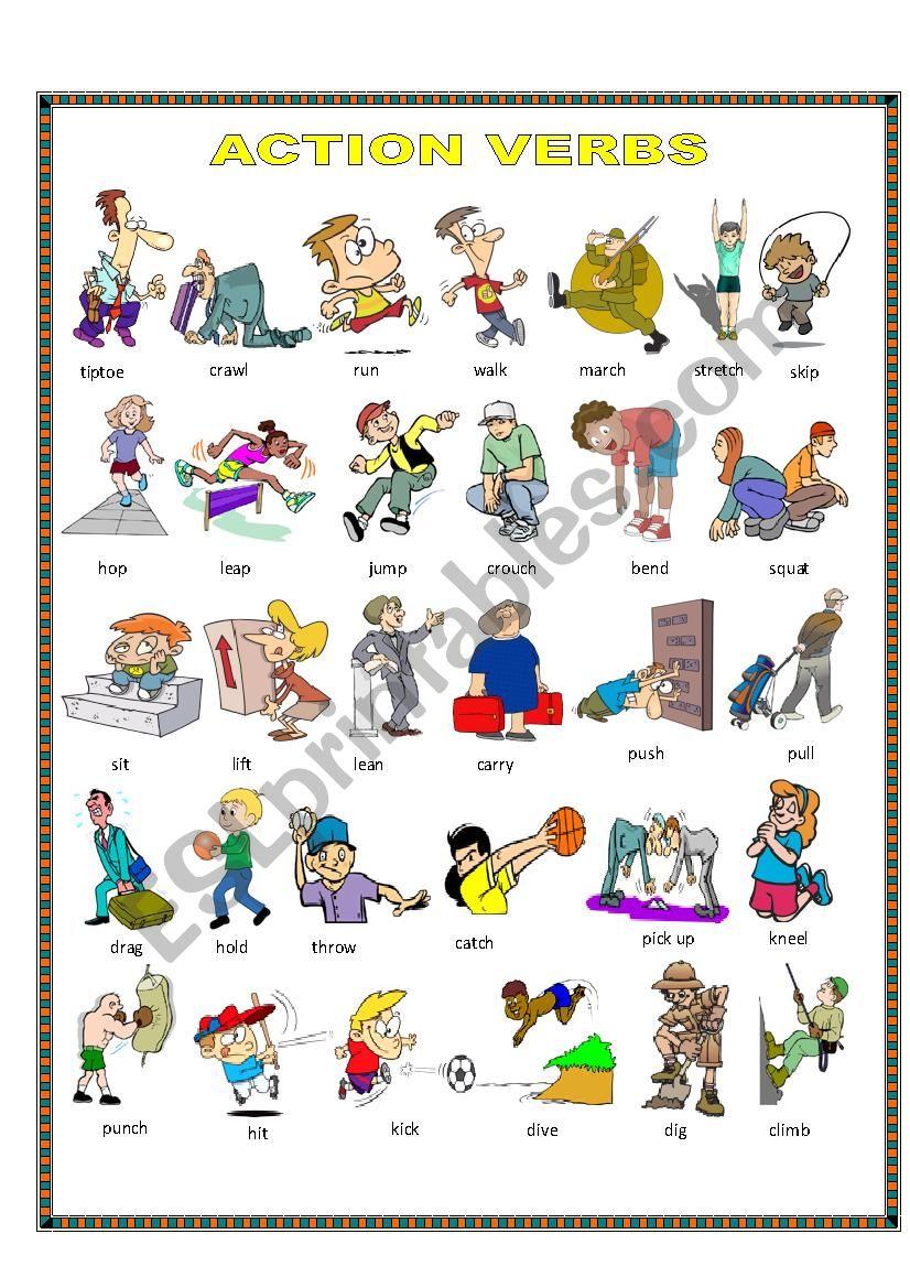 Action verbs. worksheet