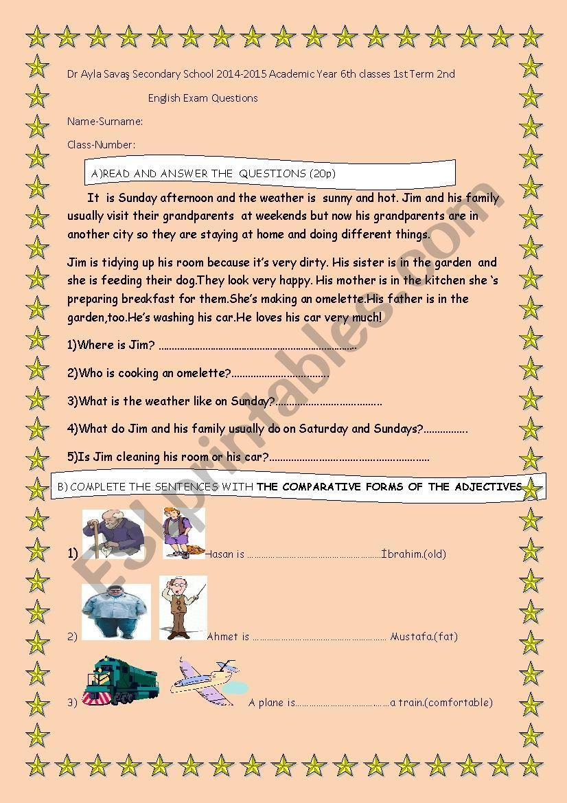Present Simple or present continuous,Exam Paper