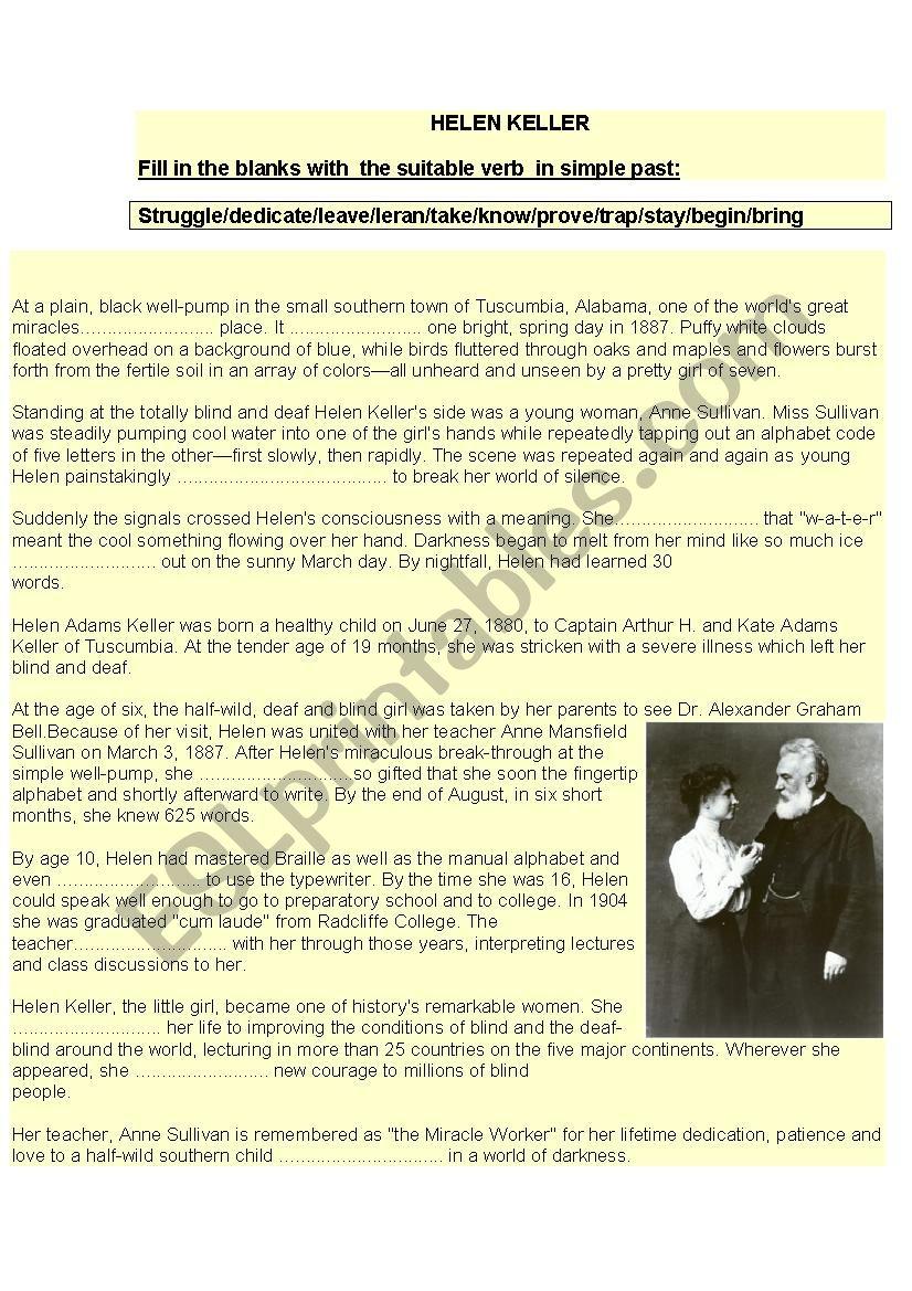 Hellen Keller : Light in Darkness