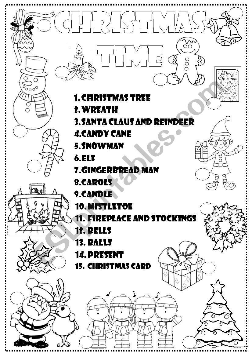 christmas time esl worksheet by mashutkawinter. Black Bedroom Furniture Sets. Home Design Ideas