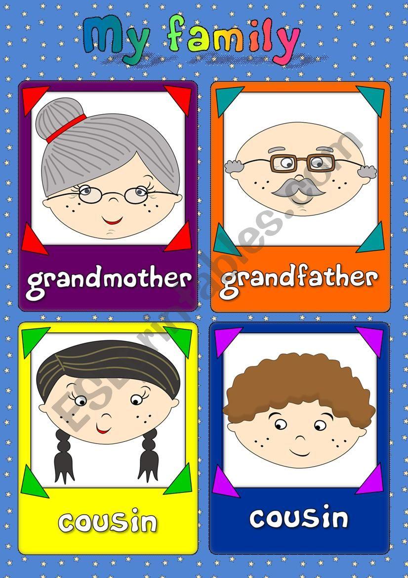 My family - flashcards (2/2) worksheet