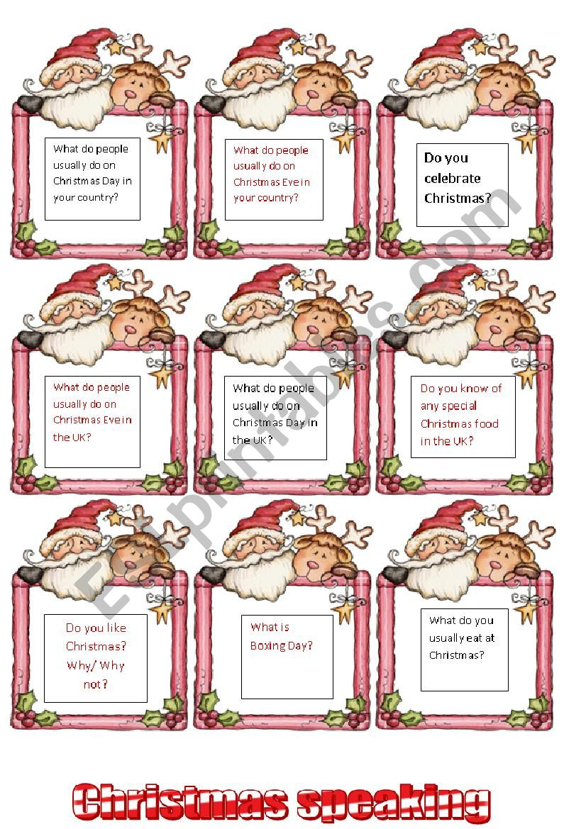 *** Christmas speaking- talking about traditions *** 1