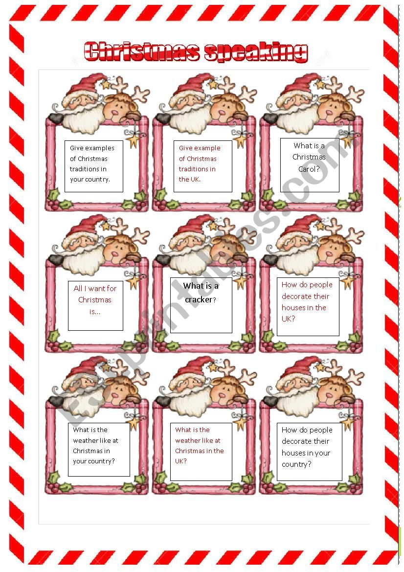 *** Christmas speaking- talking about traditions *** 2