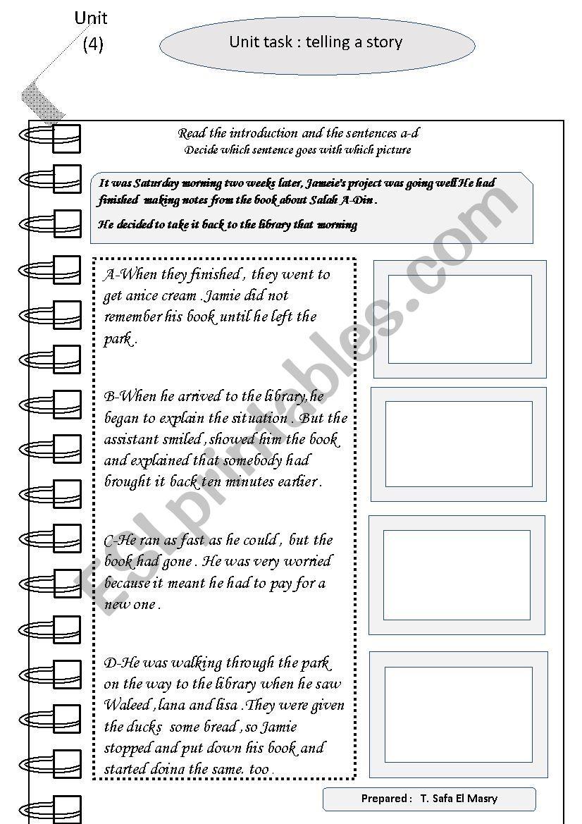 rearrange the story worksheet