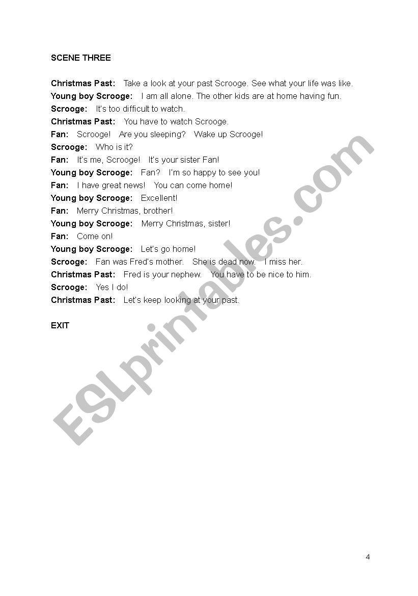 A Christmas Carol - play script - ESL worksheet by kathrynhope79