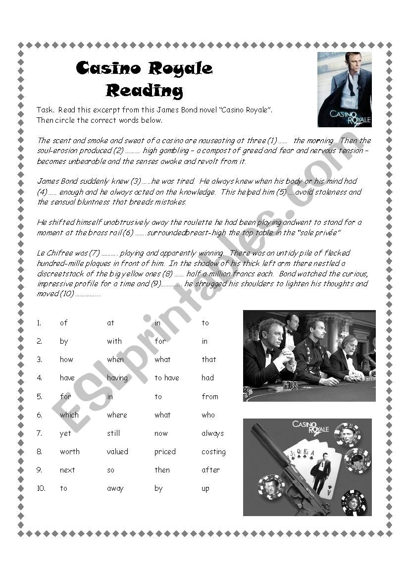 Casino Royale Reading Exercise