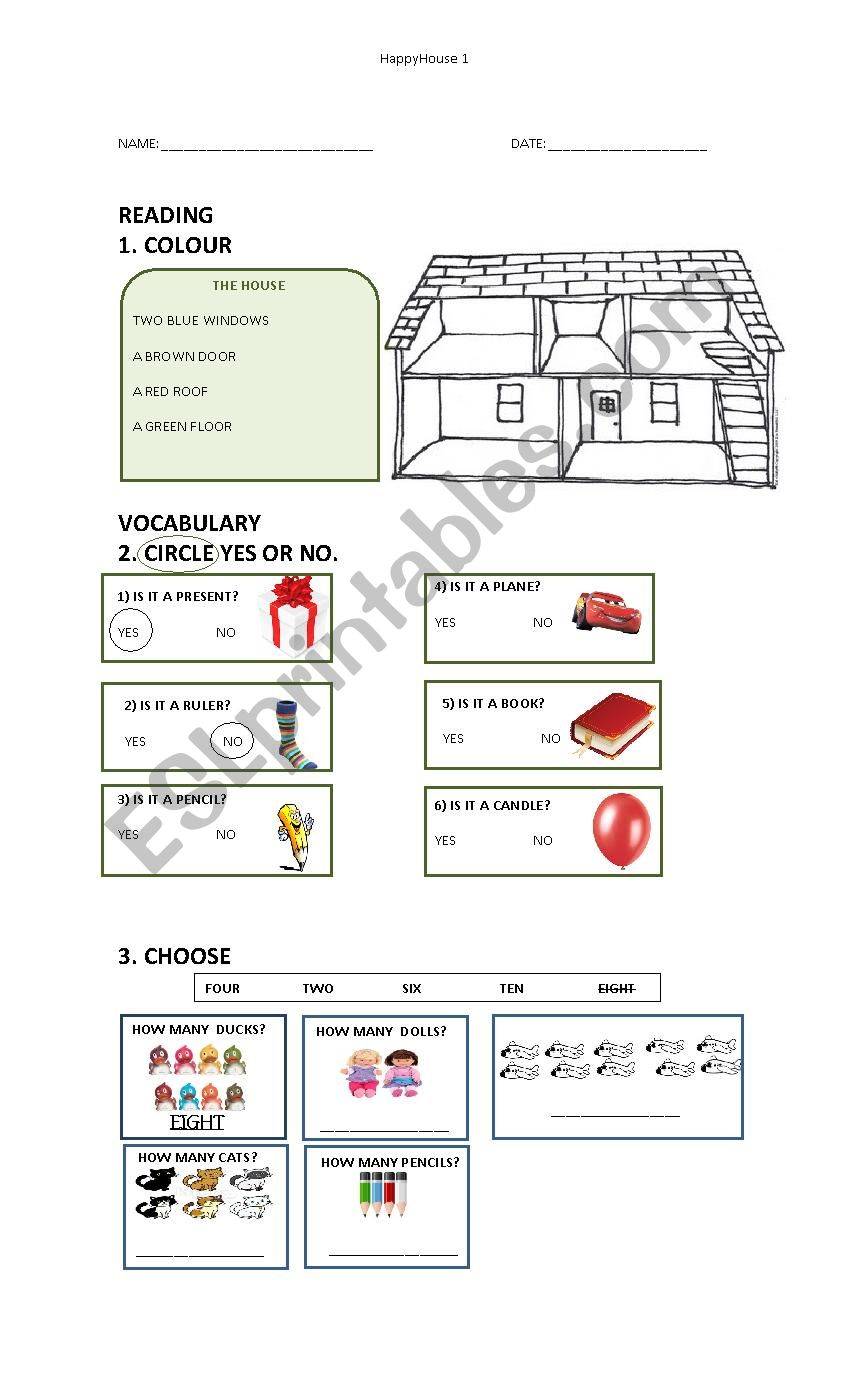Happy House 1  worksheet
