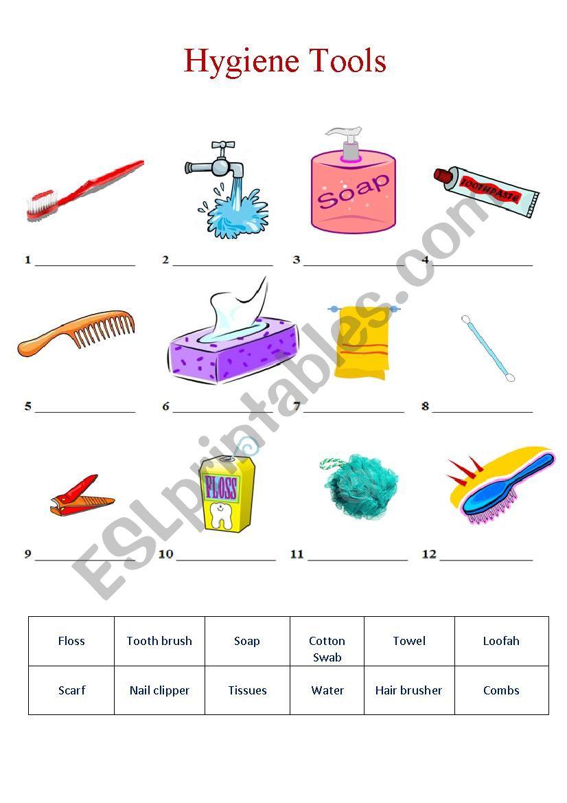 hygiene Tools worksheet