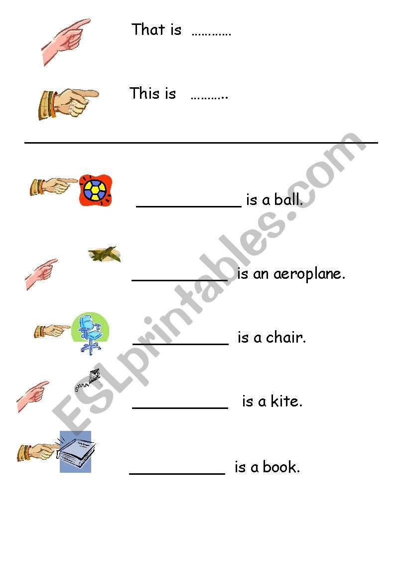 That is / This is - ESL worksheet by taur