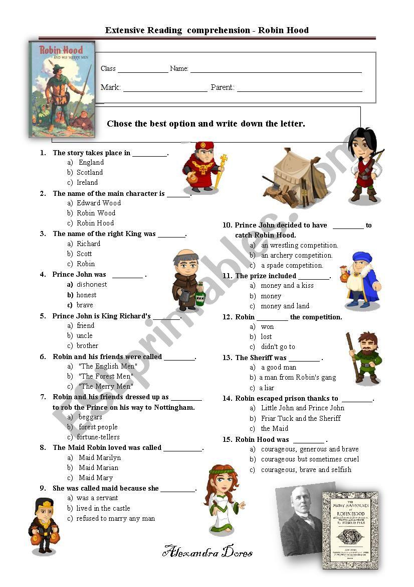 Robin Hood - extensive reading