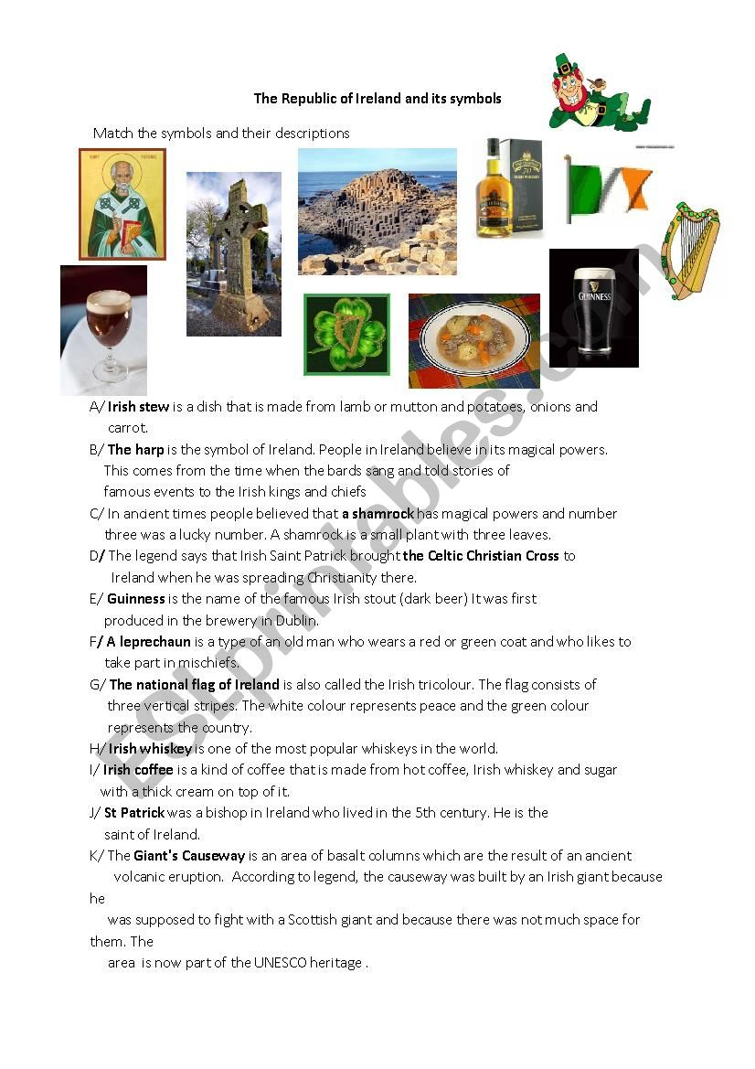 The Republic of Ireland and its symbols