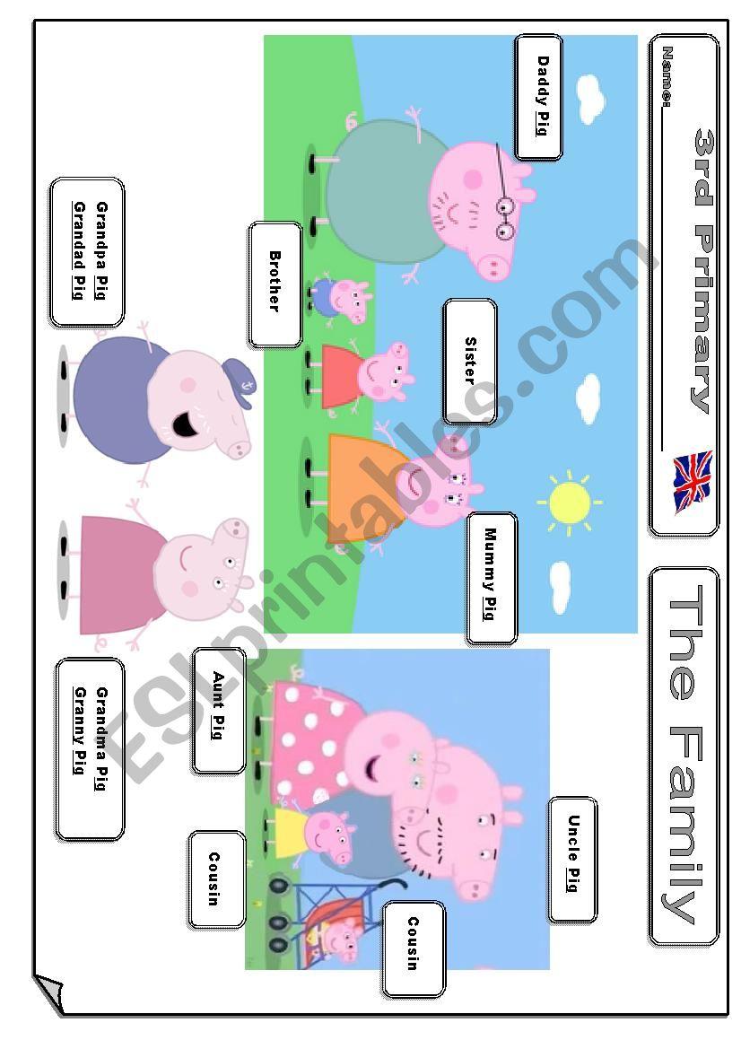 Peppa Pig S Family Esl Worksheet By Juanmi M