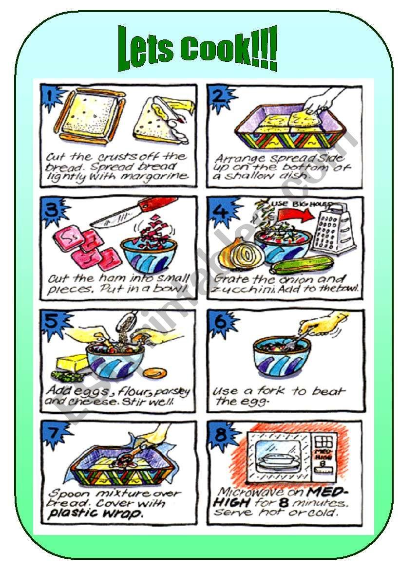 Lets Cook - recipe worksheet