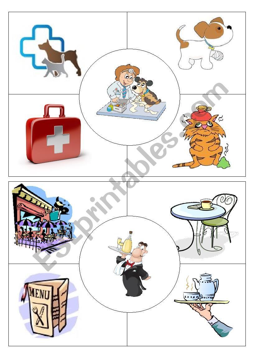 Job puzzles Vet&Waiter worksheet