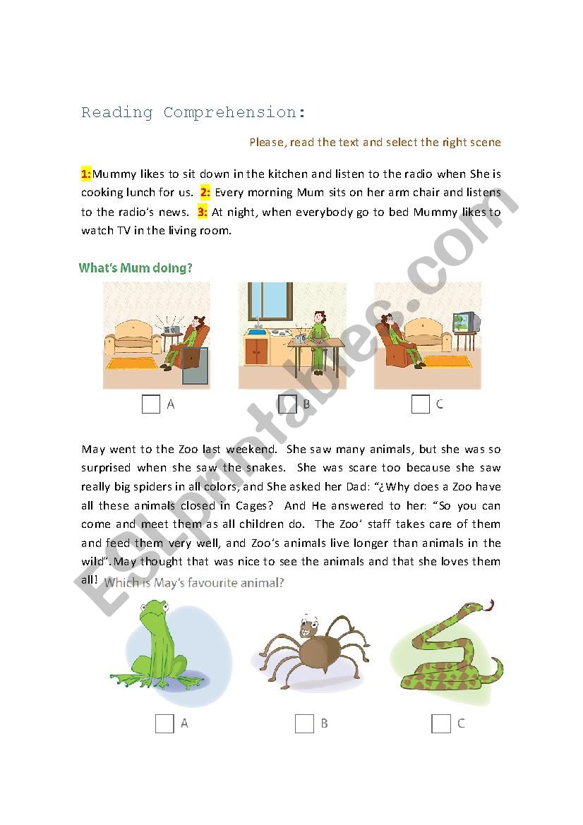 Reading Comprehension with images