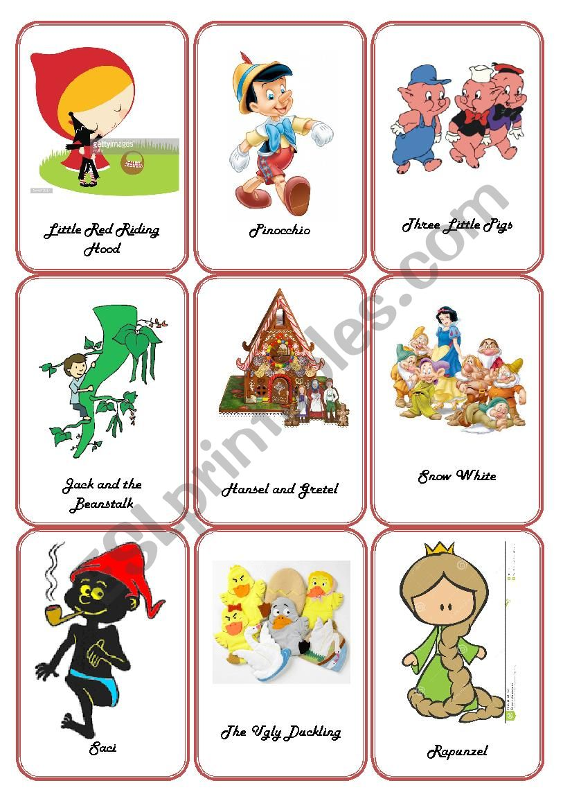 storytelling fairy tales flashcards esl worksheet by thienepc. Black Bedroom Furniture Sets. Home Design Ideas