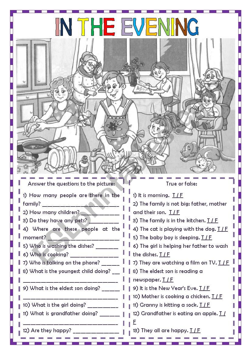 Speaking and Writing Activity worksheet