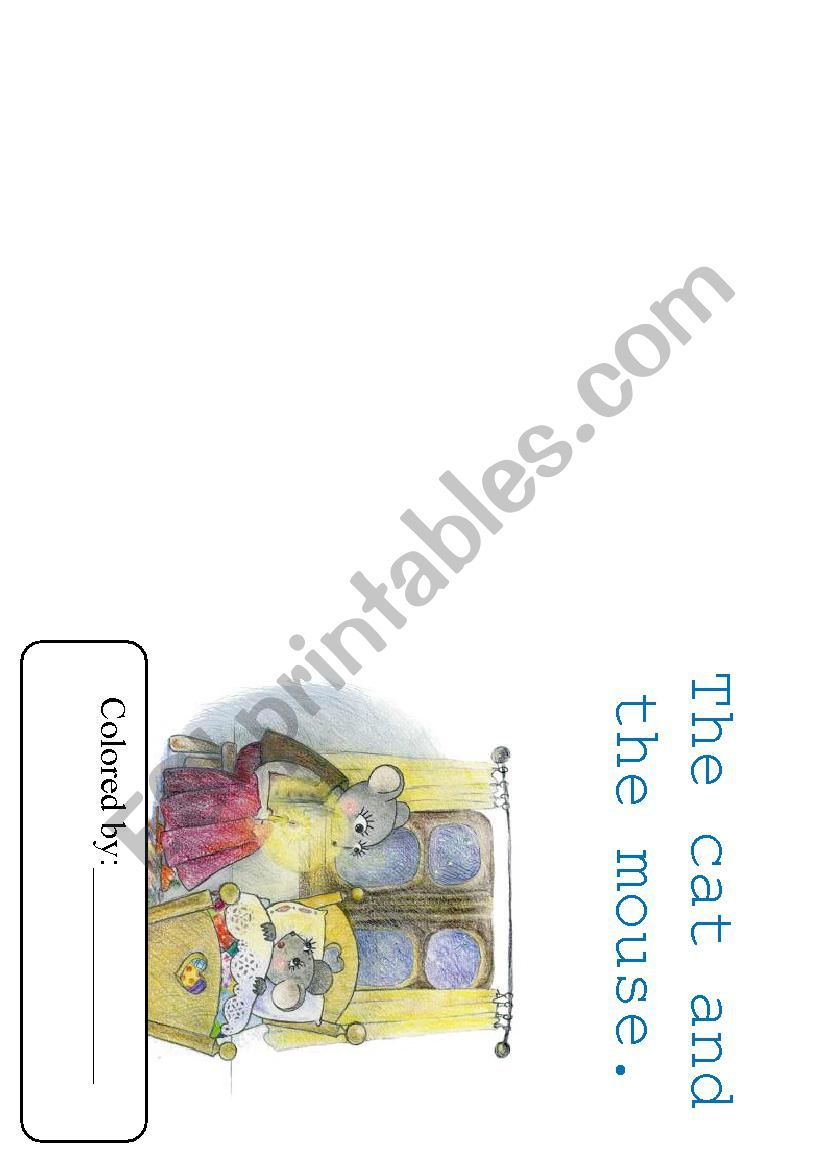 Book The Mouse and The Cat worksheet