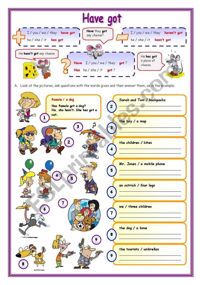 Have got (2) worksheet