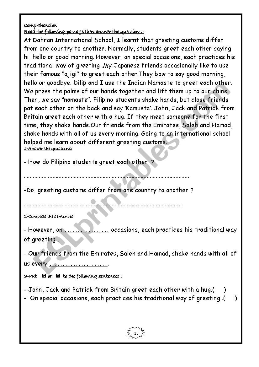 - English Comprehension Passages - ESL Worksheet By Hendawi1