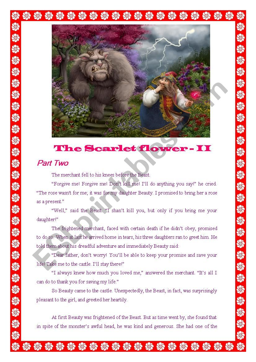 The Scarlet Flower - II worksheet