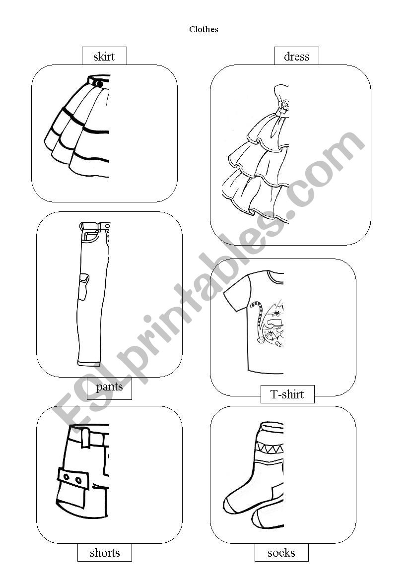 Clothers worksheet