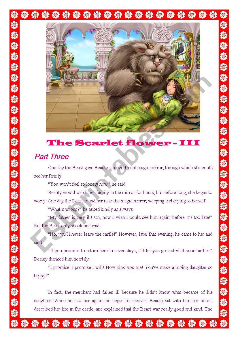 The Scarlet Flower - III worksheet