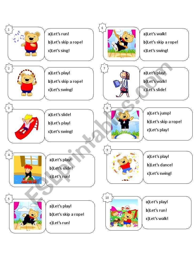 games worksheet