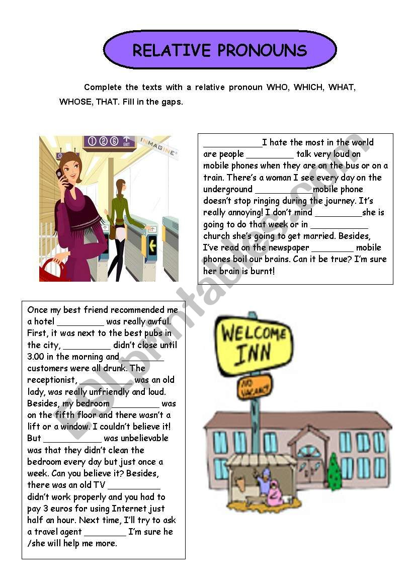 RELATIVE PRONOUNS (WHO, WHICH, WHOSE, WHAT, THAT)