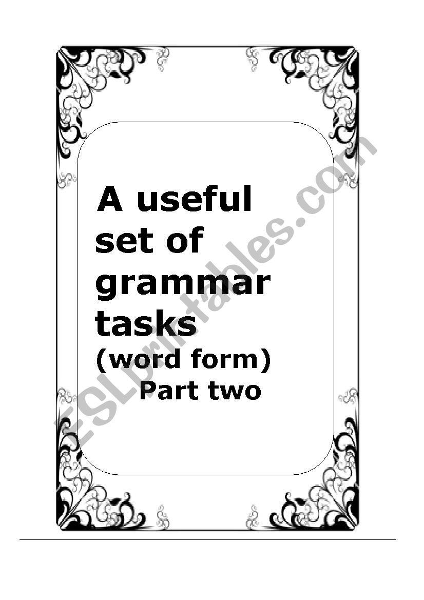 A useful booklet of grammar tasks part 2