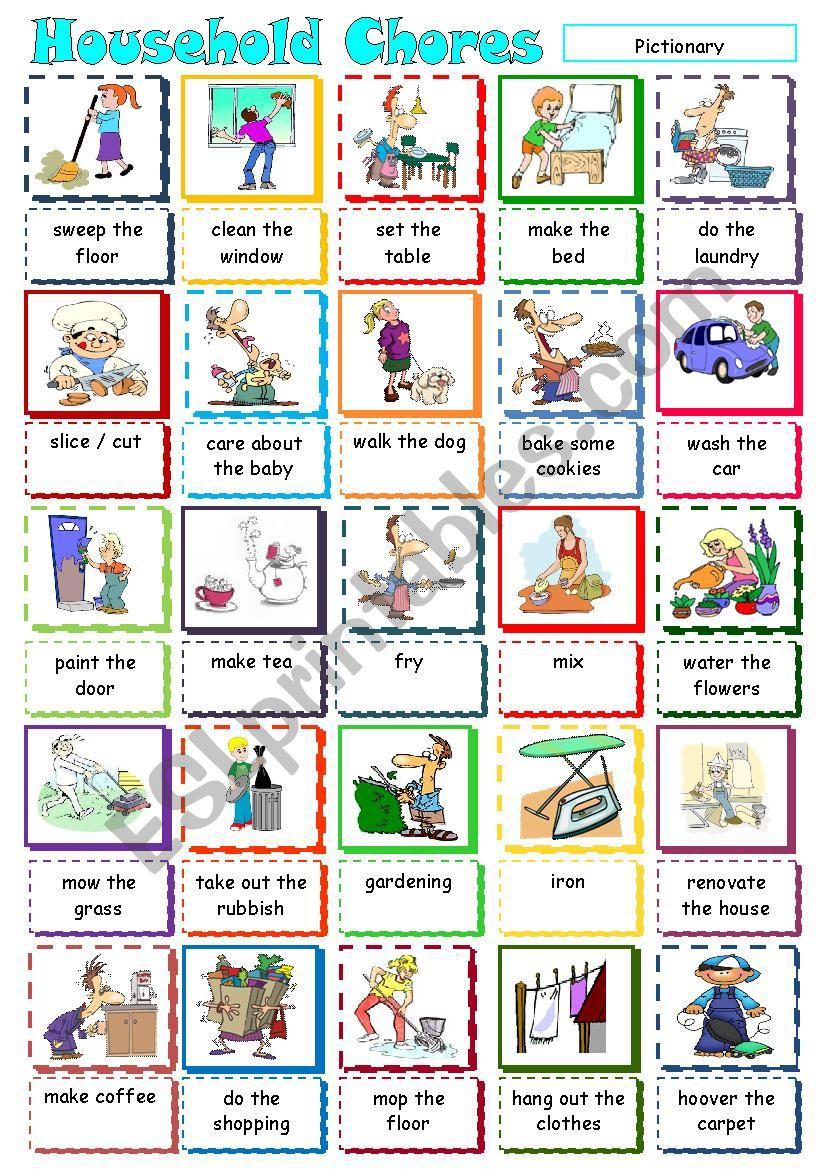 Household Chores worksheet