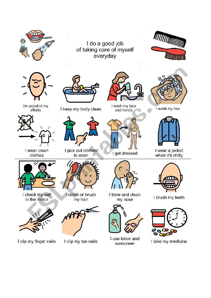 Taking Care Of Myself Esl Worksheet By Iioisac