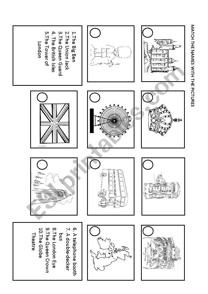 british icons worksheet