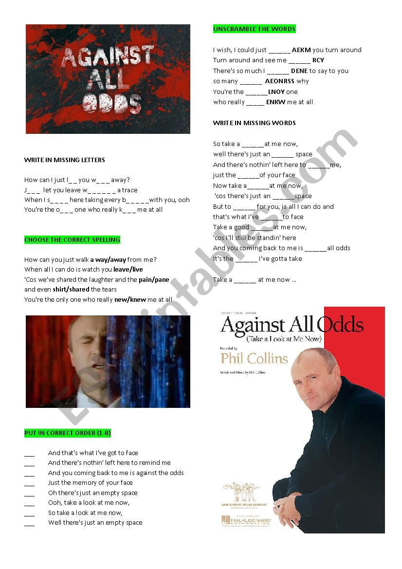 Phil Collins ´Against all odds´
