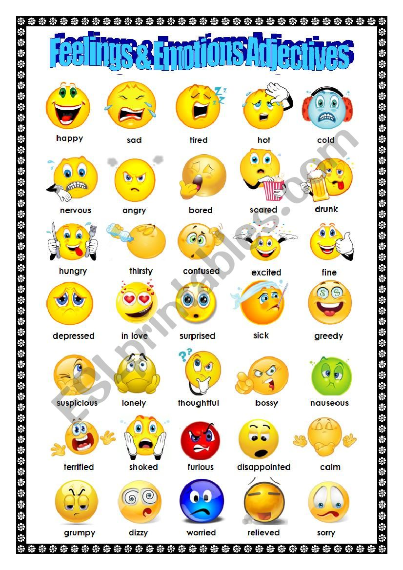 Adjectives: Feelings and Emotions