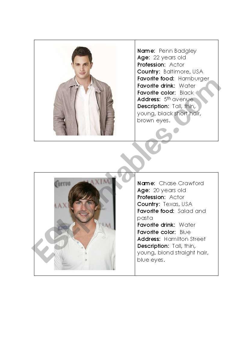 famous people - ESL worksheet by LA LUNA