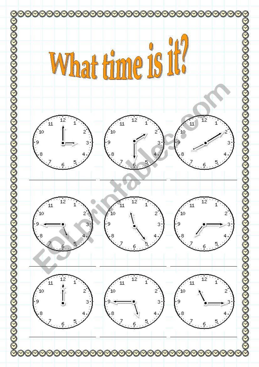 What time is it? worksheet worksheet