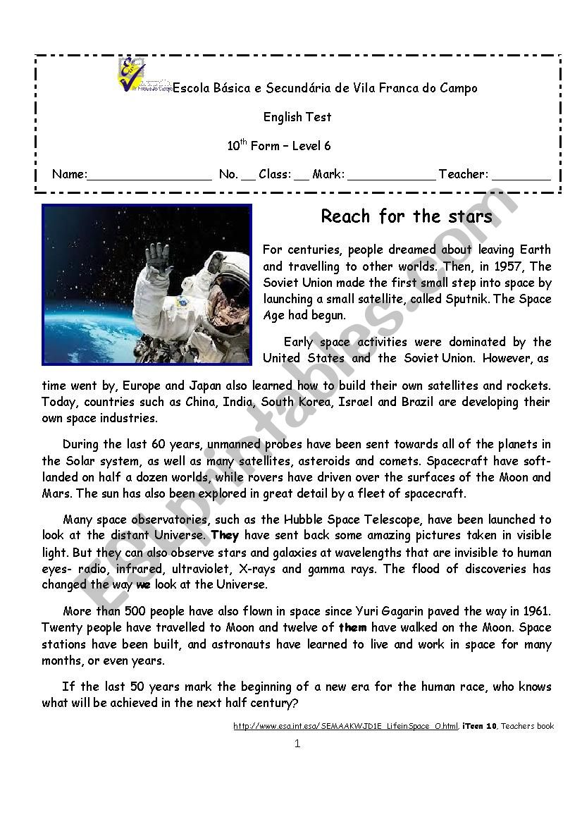 Outer space  - We have been there!
