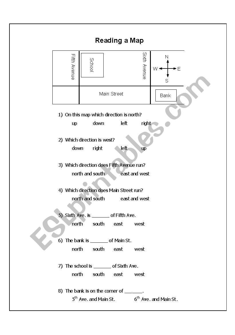 Neighborhood map wksht 1a worksheet