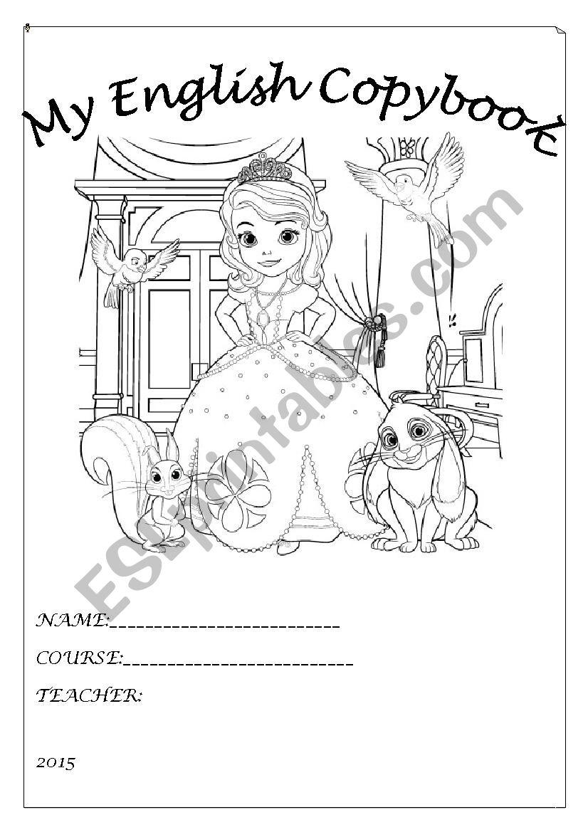 English copybook worksheet