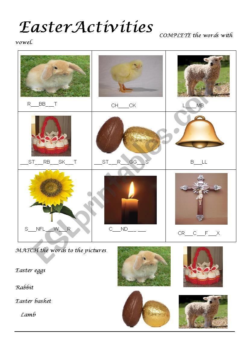 Easter exercises worksheet