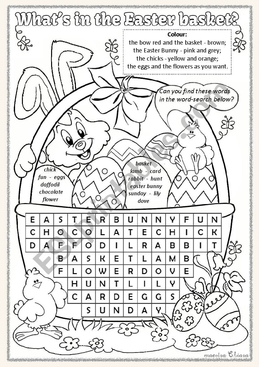 What's in the Easter basket? worksheet