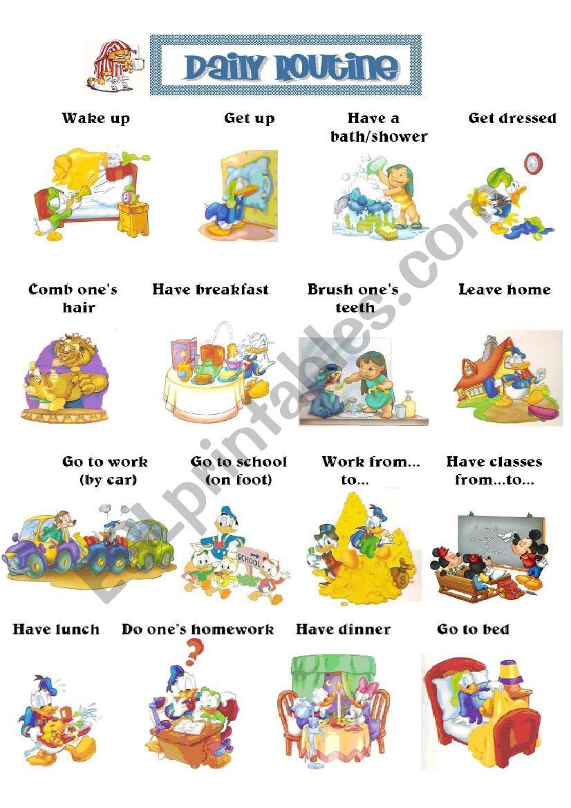 Daily life worksheet