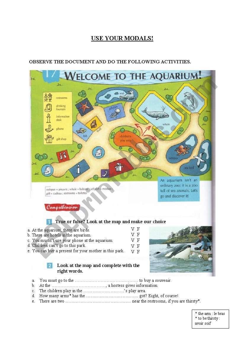 the aquarium worksheet