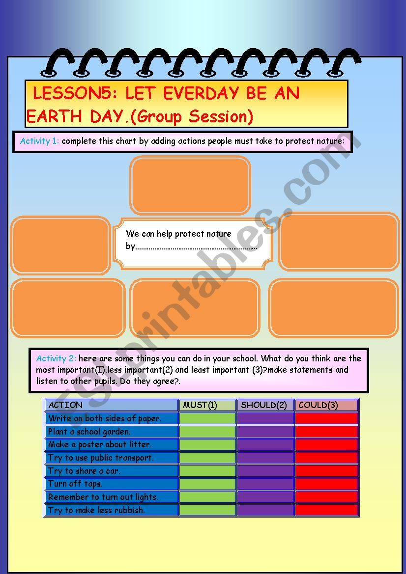 Group Session Let Every day Be An Earth Day
