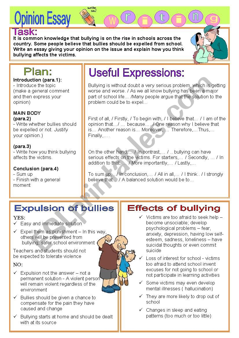 bullies should be kicked out of school essay Bullies who are expelled from school will be out for bullying is entirely unacceptable and inexcusable and persistent bullies should not be allowed back into.